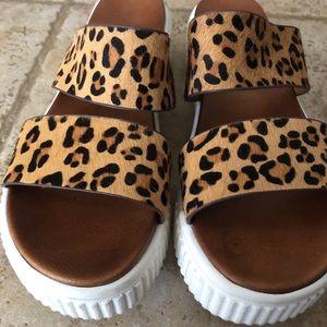 Altar'd State Leopard Platform Sandals 7